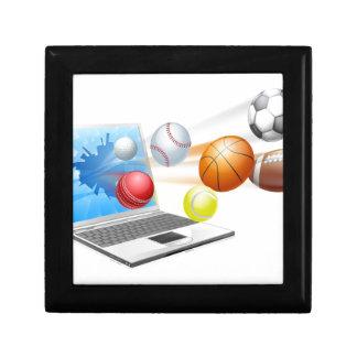 Se divierte concepto del app del ordenador portáti caja de regalo