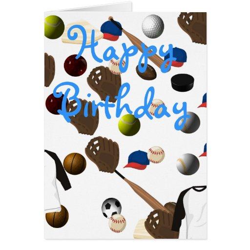 Se divierte la tarjeta de cumpleaños del béisbol
