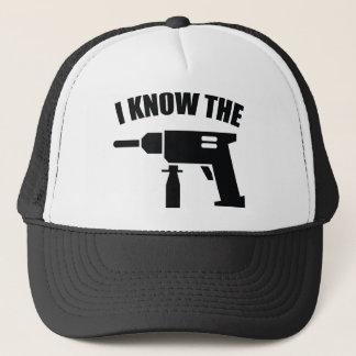 Sé el taladro gorra de camionero