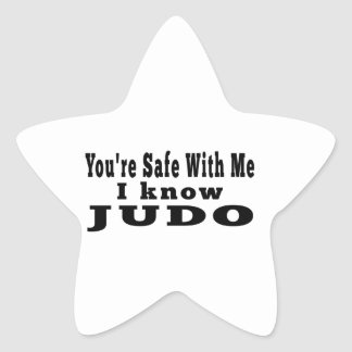 Sé judo calcomanía forma de estrella personalizada