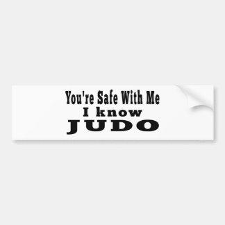 Sé judo pegatina de parachoque