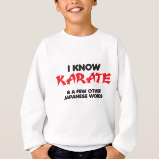 Sé karate sudadera