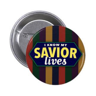 Sé mis vidas del salvador. botón rayado de LDS