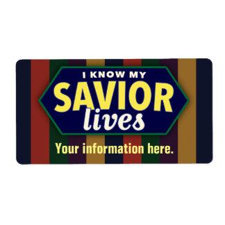 Sé mis vidas del salvador. Etiquetas de LDS Etiquetas De Envío