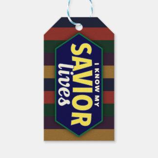 Sé mis vidas del salvador. etiquetas rayadas del etiquetas para regalos
