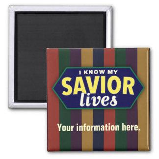 Sé mis vidas del salvador. Imán de LDS. ADAPTABLE