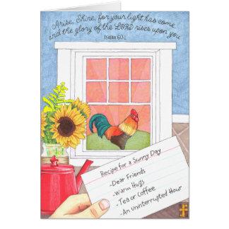 Se presenta la tarjeta de la amistad del brillo