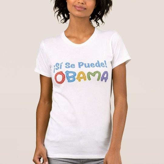¡SE Puede de Sí del ¡! Camisa de Obama
