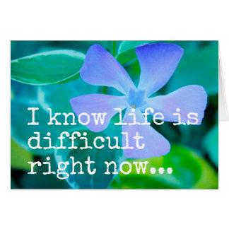 Sé que la vida es ahora TARJETA de FELICITACIÓN