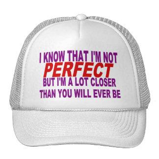SÉ QUE no soy PERFECTO Gorros