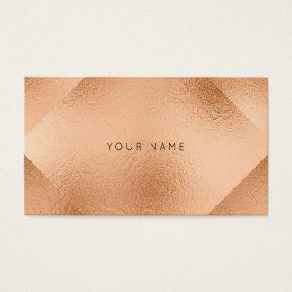 Se ruboriza el melocotón metálico de cobre color tarjeta de negocios