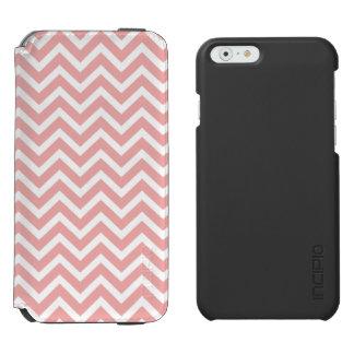 Se ruboriza el zigzag rosado y blanco de Chevron Funda Cartera Para iPhone 6 Watson