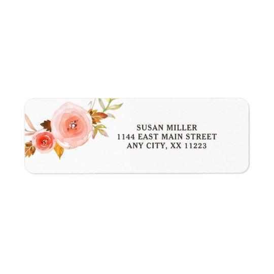 Se ruboriza la etiqueta floral rosada 3605b del