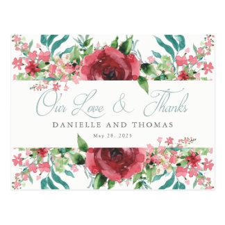Se ruboriza la postal del boda de la acuarela le