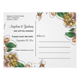 Se ruboriza la reserva floral la postal del boda