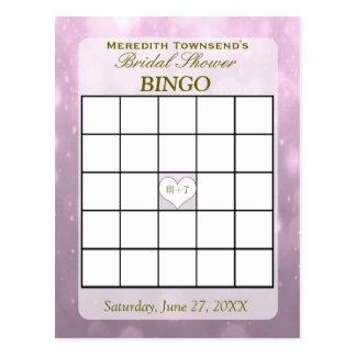 Se ruboriza la tarjeta del bingo de Bokeh el   Postal