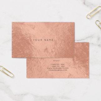 Se ruboriza la tarjeta metálica de cobre color de