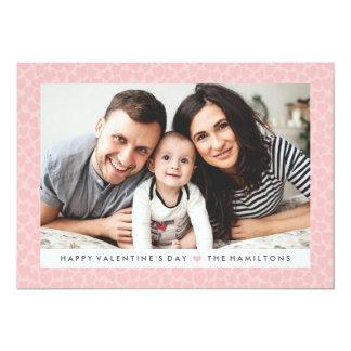 Se ruboriza la tarjeta rosada de la foto del el invitación 12,7 x 17,8 cm