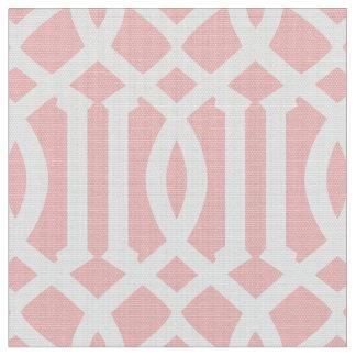 Se ruboriza la tela marroquí rosada del modelo el telas