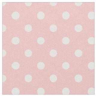 Se ruboriza la tela rosada y del blanco de los telas