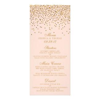 Se ruborizan el rosa y el menú del boda del tarjetas publicitarias personalizadas