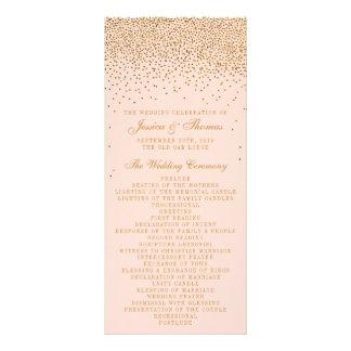 Se ruborizan el rosa y el programa del boda del tarjetas publicitarias personalizadas