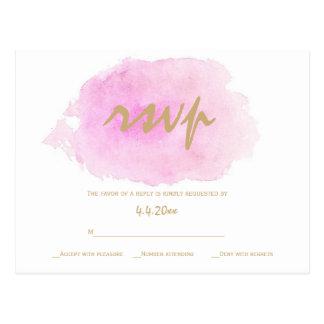 Se ruborizan el rosa y las tarjetas del rsvp del