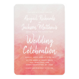 Tarjeta Se ruborizan invitación del boda de la acuarela