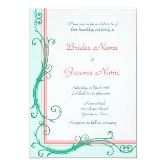Se ruborizan invitación del boda del melocotón y