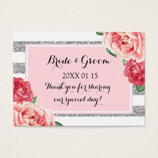 Se ruborizan las etiquetas florales rosadas de