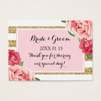 Se ruborizan las etiquetas florales rosadas del