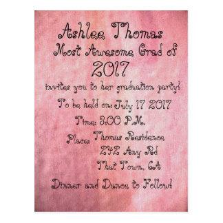 Se ruborizan las invitaciones de encargo rosadas