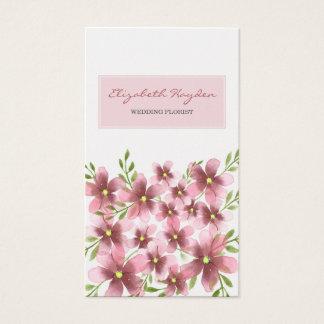 Tarjeta De Visita Se ruborizan las tarjetas de visita florales