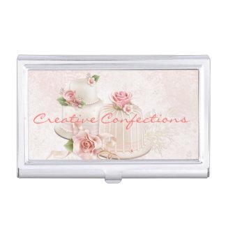 Se ruborizan los pasteles de bodas con los rosas, cajas de tarjetas de presentación