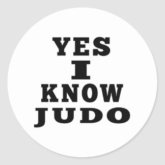 Sé sí judo pegatina redonda