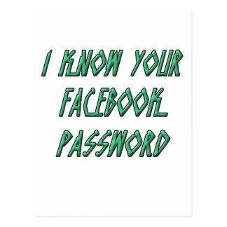 Sé su contraseña del facebook postales