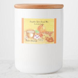 Sea agradecido para el hogar de cosecha de Mabon Etiqueta Para Comida