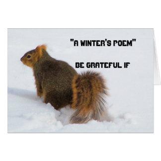 Sea agradecido si… (una tarjeta del poema de los