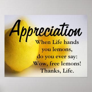 Sea agradecido y cuente sus bendiciones 3 póster