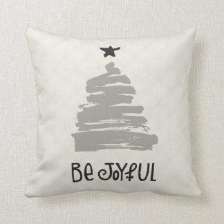 Sea almohada de lino alegre del día de fiesta