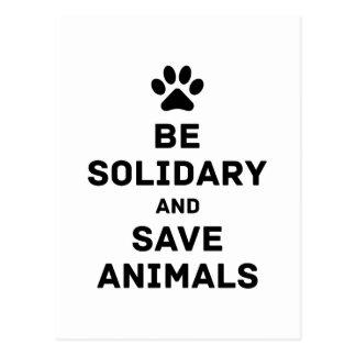 Sea animales solidarios y de la reserva postal