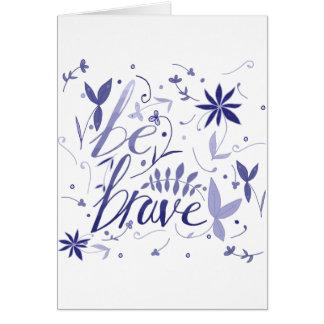 Sea azul valiente tarjeta