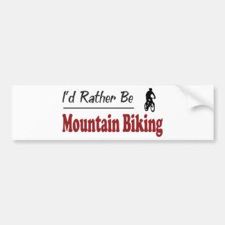Sea bastante el Biking de la montaña Pegatina Para Coche