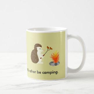 Sea bastante taza del erizo que acampa