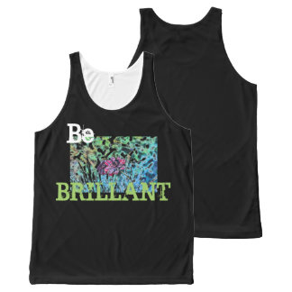 Sea Brillant por todo el tanque unisex impreso Camiseta De Tirantes Con Estampado Integral