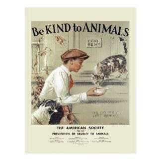Sea bueno con la postal #2 del vintage de los
