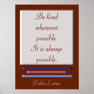 Sea - cita de Dalai Lama - impresión buena del