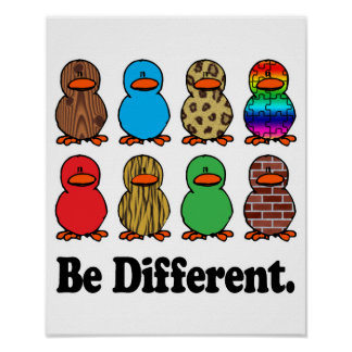 Sea diversos patos póster
