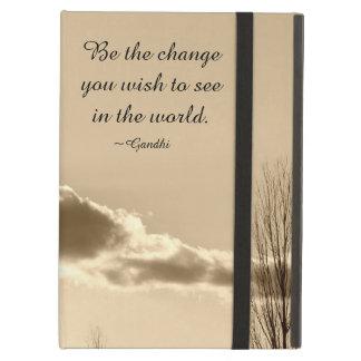 Sea el cambio funda para iPad air