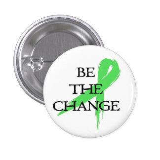 Sea el cambio - mes de la conciencia de la salud m chapa redonda de 2,5 cm
